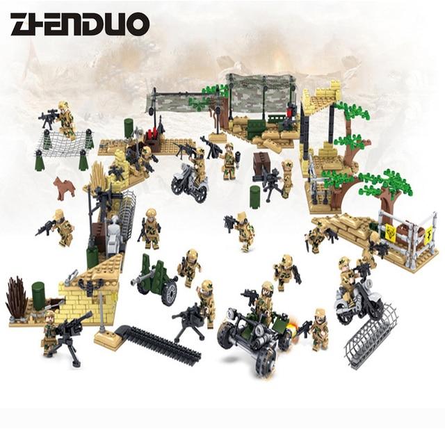 KAZI 82013#1 4 16PCS Building Blocks Military Toy Vehicle Super ...