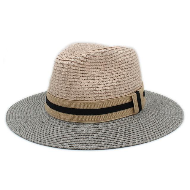 2017 Nova Moda Homens Mulheres Verão Palha Chapéu de Sol Chapéu Panamá Cap  personalidade chapéu c2ce85832e1