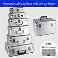 Алюминиевый сплав toolbox чемодан инструмент коробка оборудование коробка для файлов косметический кейс алюминиевый ящик для инструментов с ...