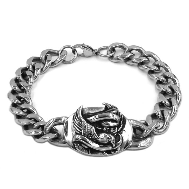 Wholesale Classic Biker Eagle Bracelet Stainless Steel