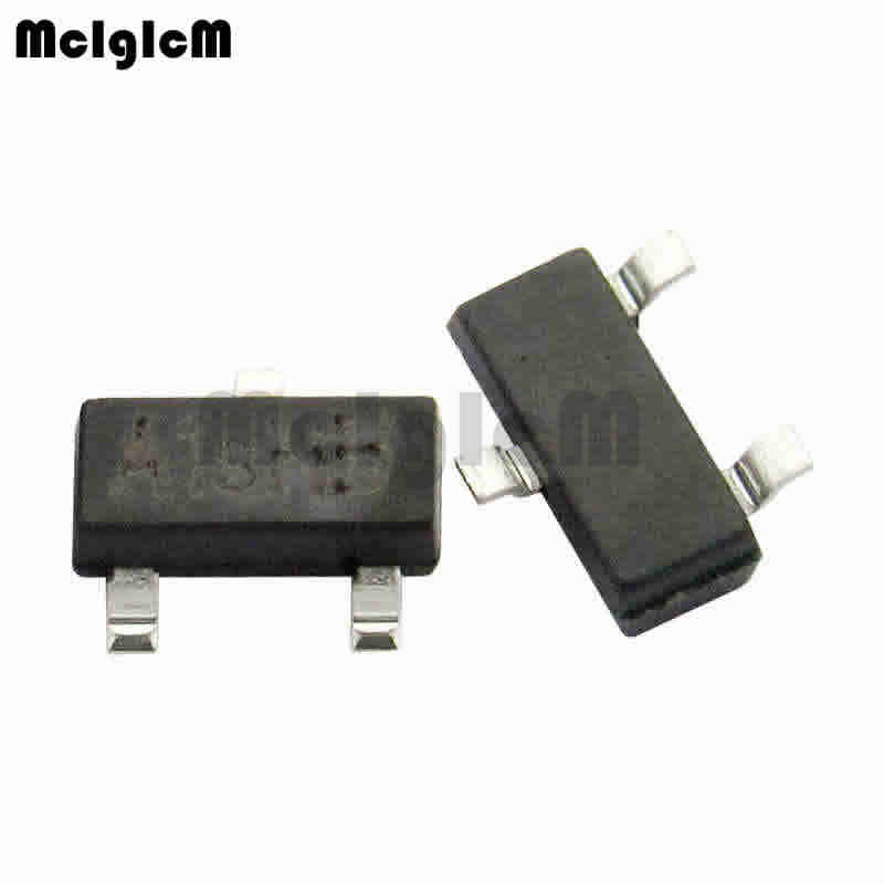 Mcigicm SI2301 100 Buah SMD MOSFET Transistor SOT-23 SI2301 MOSFET P-CH 20V 3.1A SOT23-3