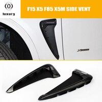 X5 X5M Estilo Fibra De Carbono Side Bumper Fender Ventilação Guarnição para BMW F15 X5 2014 2015 2016 2017 (NÃO FIT F85 X5M)