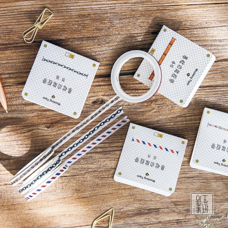 Basic Vintage Washi Tape Masking Tapes Japanese Slim Washi Tape Diy Scrapbooking Sticker 5 rolls washi masking tape set petal flower paper masking tapes japanese washi tape diy scrapbooking sticker 15mm x 5m