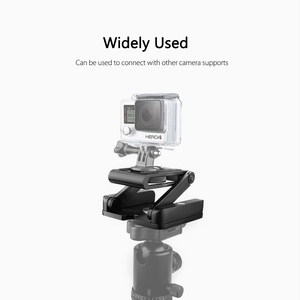 Image 4 - Vamson Accessories for Gopro Hero7 6 5 4 3 Fold Z Type Stand Holder Adapter Tripod Quick Release Plate for DSLR Camera VP419