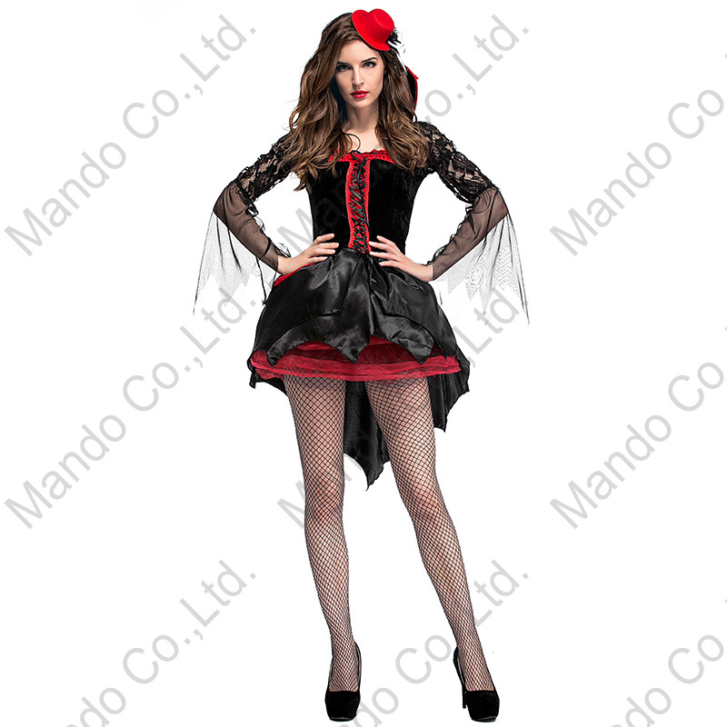 Adult girls Carnival party dreeses Women Sexy Gothic Vampire Queen Cosplay Costumes Halloween Outfit Fancy Dress