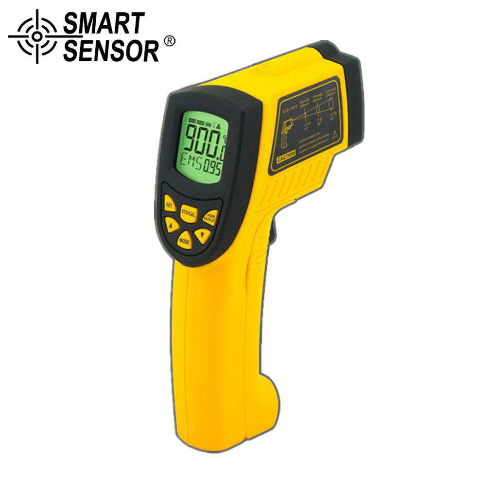 SMART SENSOR measure range -50~900C(-58~1652F) Non-contact Digital IR infrared thermometer Laser Infrared Thermometer  meterSMART SENSOR measure range -50~900C(-58~1652F) Non-contact Digital IR infrared thermometer Laser Infrared Thermometer  meter