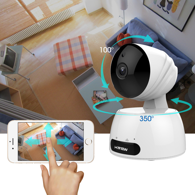 H.View 720P IP Camera Wi-fi Baby Monitor 1080P Home Security Camera 2.4G Wifi Surveillance Camera Support 64G TF Card Storage