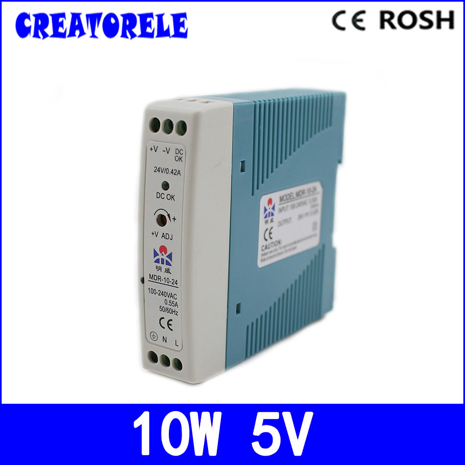 ac to dc MDR-10-5 Din RaiI Mini Size 10w 2a 5v  CE Ied driver source switching power suppIy voIt ac to dc ce safe pkage 800w scn 800 12 watts quaiity from china ftory ied driver source switching power suppiy voit