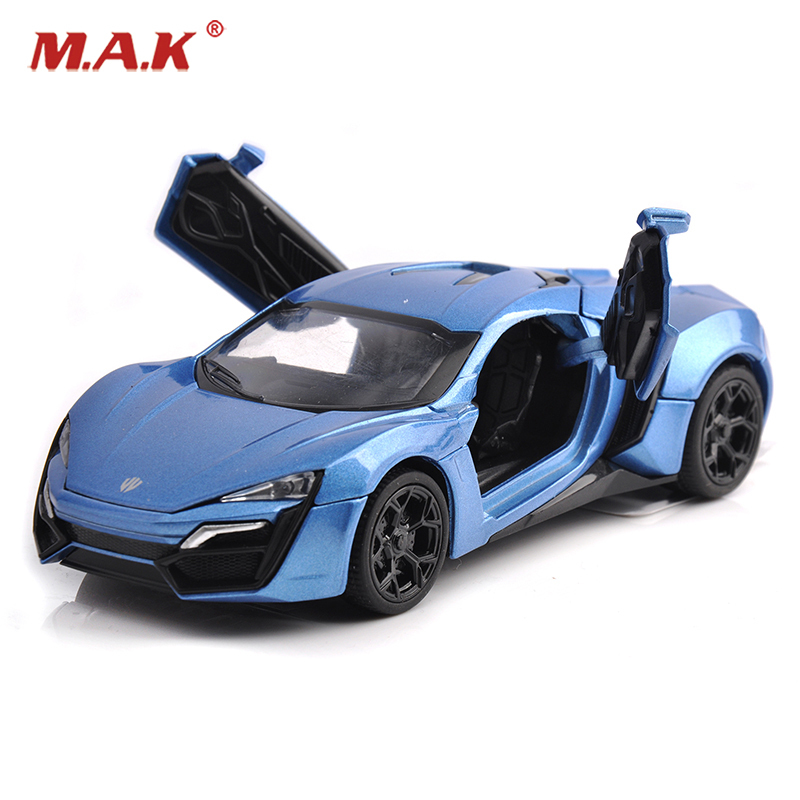1:32 Scale Blue Alloy Lykan Hypersport Diecast Car Models Fast & Furious 7 Children Boy Toys Brinquedos With Light&Sound