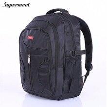 Supermeet Men Backpack Large Capacity Bagpack for Boys Daypack Laptop Back Pack Nylon Tide Black Men