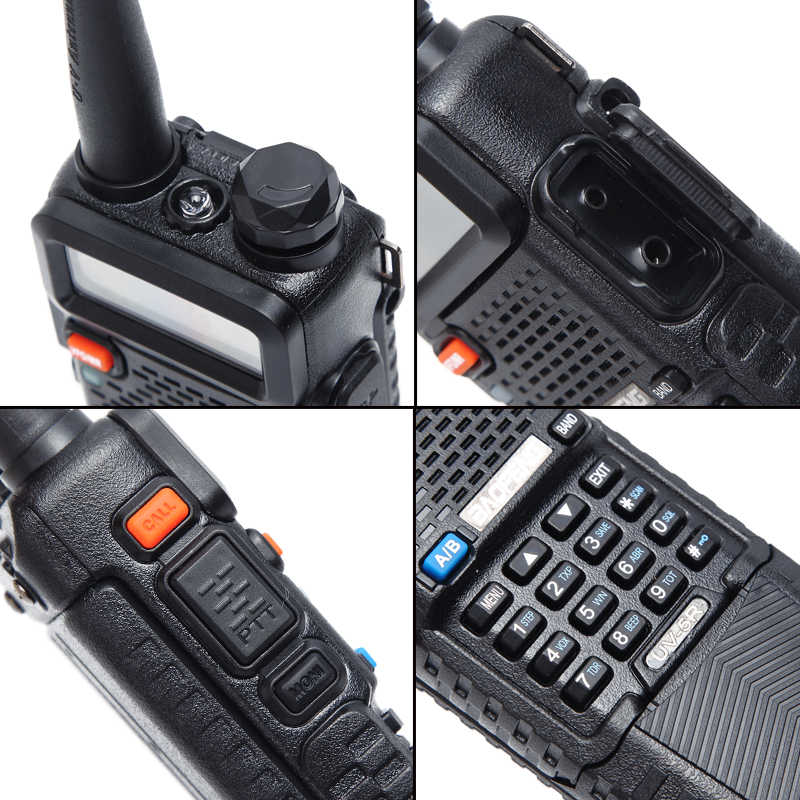 Baofeng UV-5R 5W 3800 Mah Lange Li-Ion Batterij Dual Band 136-174 & 400-520 Mhz Ham cb Two Way Radio Walkie Talkie Zender UV5R