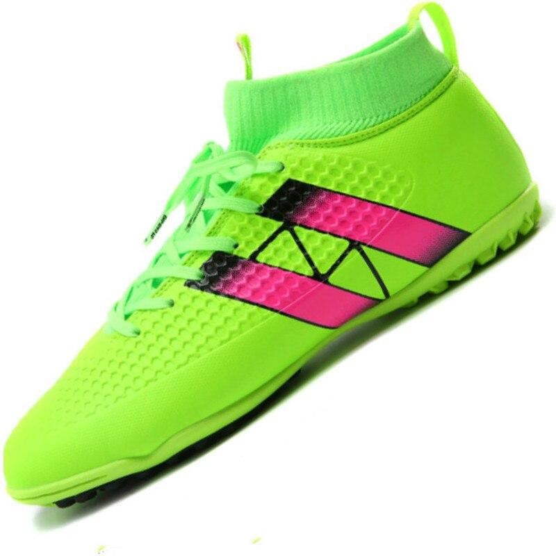 Professional Adults Men <font><b>Soccer</b></font> Indoor Cleats <font><b>Shoes</b></font> Ankle Top TF <font><b>Soccer</b></font> Football Boots Trainers Athletic Sports Sneakers EU38--44