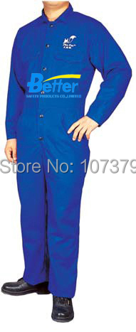 Flame Retardant Welding Clothing FR Cotton Coverall  FR Cotton Welding Clothes