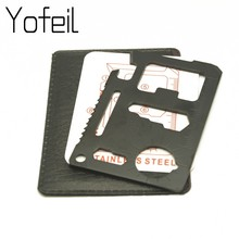 Bolso ferramenta cartão de crédito 11 em 1 portátil acampamento ao ar livre sobrevivência multi-ferramenta turismo equipamentos