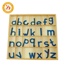 Baby Toy Montessori Wooden Movable Aphabet Box Learning 26 Letters of an Alphabet Early Education