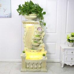 Duży europejski podłogowe w stylu fontanna wody staw rybny dekoracji ozdoby do dekoracji domu prezenty europejski kwiat garnek Fish Tank w Fontanny i poidła dla ptaków od Dom i ogród na