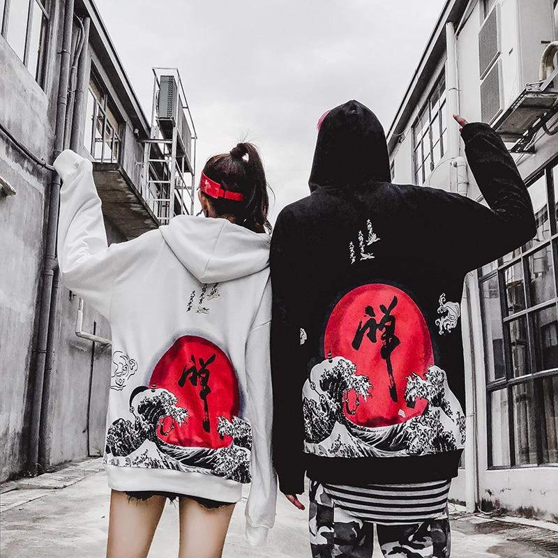 Japanese Street Harajuku Hoodies Dhyana Kanji Oversize Swag Tyga Hoodie Autumn Hoodies US Size S-XL hoodie