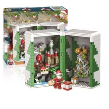купить Winner 5037 452pcs Winter Christmas Gift Box Santa Claus Building Blocks Compatible With legoings по цене 712.76 рублей