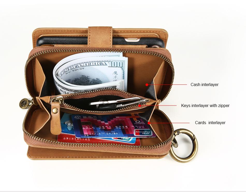 Floveme vintage leather wallet phone case for iphone 7 7 plus 6 6 s plus retro torebka slot kart pokrywa dla samsung s7 s8 coque 9