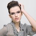 SKAIL VELA Óculos de Armação Mulheres Óculos Ópticos Quadros Ajuste Senhoras Da Moda Jogos de Leitura Moldura De Vidro Miopia Lente Clara SS015