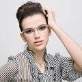 SKAIL VELA Marco de Los Vidrios Mujeres Miopía Marcos de Anteojos Ópticos Fit Lente Transparente Moda Damas Juegos de Lectura Marco De Cristal SS015