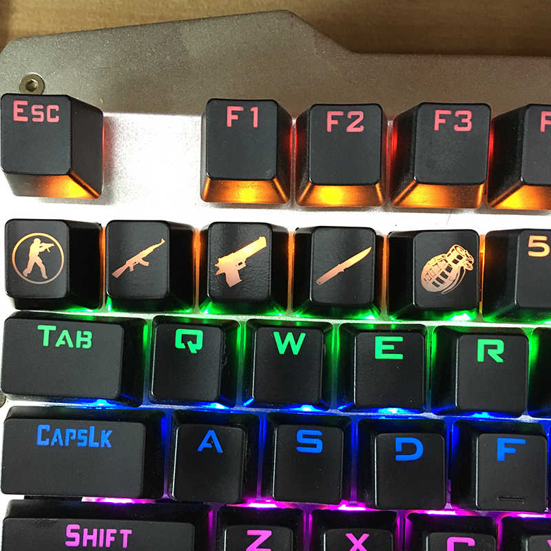 SIANCS DIY CS GO Gaming keycaps Key Button CSGO key caps game keycap Game Accessoires Genade ABS Cap voor Mechanische toetsenbord