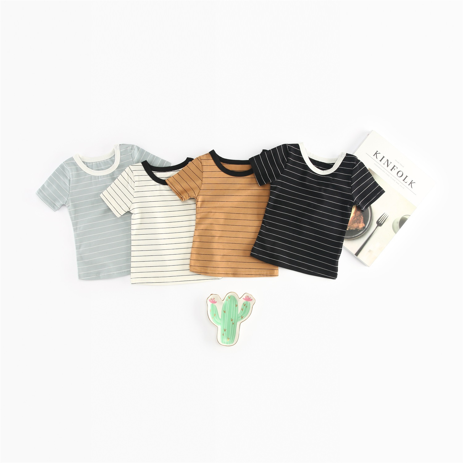 Newborn Summer T Shirt Infant Striped Tee Baby Boys Girls Cotton Striped T-shirt Kids Summer Tee 2018 New Arrival Discount Sale
