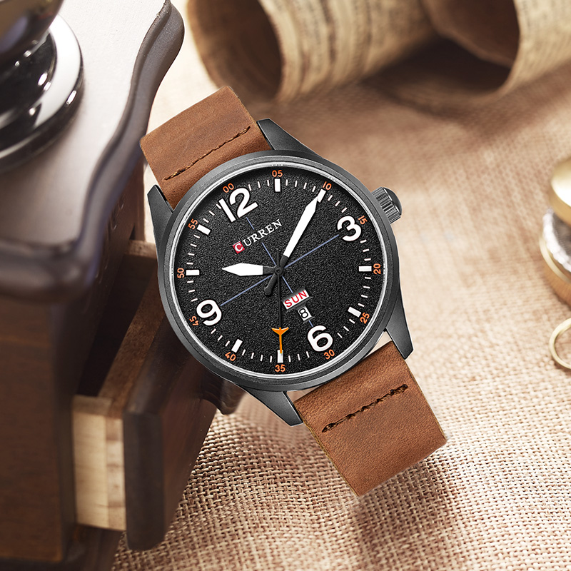 NEW 2018 CURREN Men's Sports Quartz Watches Mens Watches Top Luxury Brand Leather date week Wristwatches Relogio Masculino 8265 relogio masculino original curren wristwatches mens watches top brand luxury silicone sports watches military army waterproof