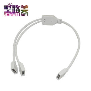Connection-Cable Led-Strips 4pin Female for RGB 1-To-2-Ports 3-Free 5pcs White-Color