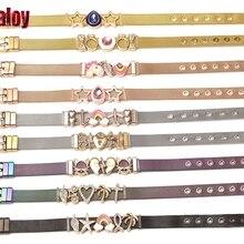 SEIALOY новые часы из нержавеющей стали, сетчатые браслеты для женщин и мужчин, пара влюбленных, золотые амулет в виде единорога, фирменный браслет, браслет, ювелирное изделие