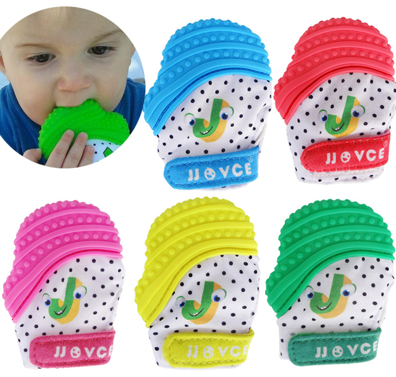 Cute Baby Silicone Glove Teethers Toys 3-12 Months  Newborn Chewable Pacifier Nursing Glove Teethers Teething  Kids Dental Gift