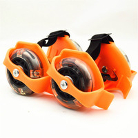 New Children Small Whirlwind Pulley Portable Sports Freeline Roller Road Skating Flashing Roller with Wheels Skate Roller Shoes