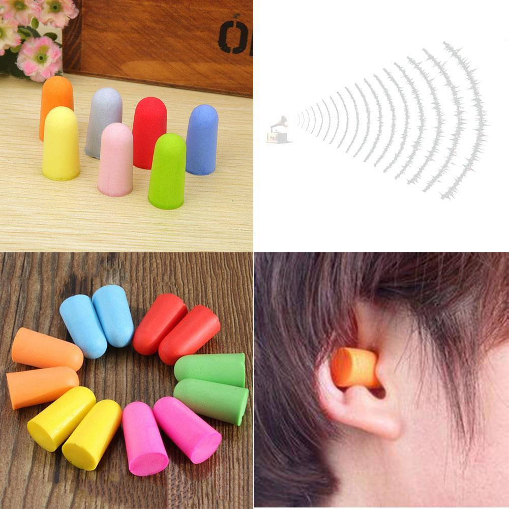 50 Pairs Soft Foam Ear Plugs Classic Sleeping Reusable Travel Noise Reducer WT