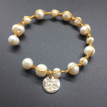 Bracelet new ladies natural pearl brand handmade bracelet accessories armband jewelry Christmas gifts