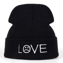 2018 new Brand love Pattern Hat Women Knitted Winter Hat Fashion Skullies Beanies men Wool Winter Cap Thicker Caps