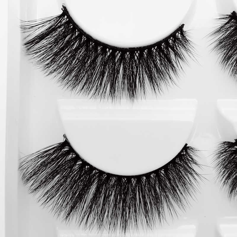 50 Pasang Bulu Mata Palsu Alami Panjang Mink Bulu Mata Makeup Bulu Mata 100% Cruelty Free Bulu Mata Palsu Bulu Mata untuk Cilio Yang Dijamin g808