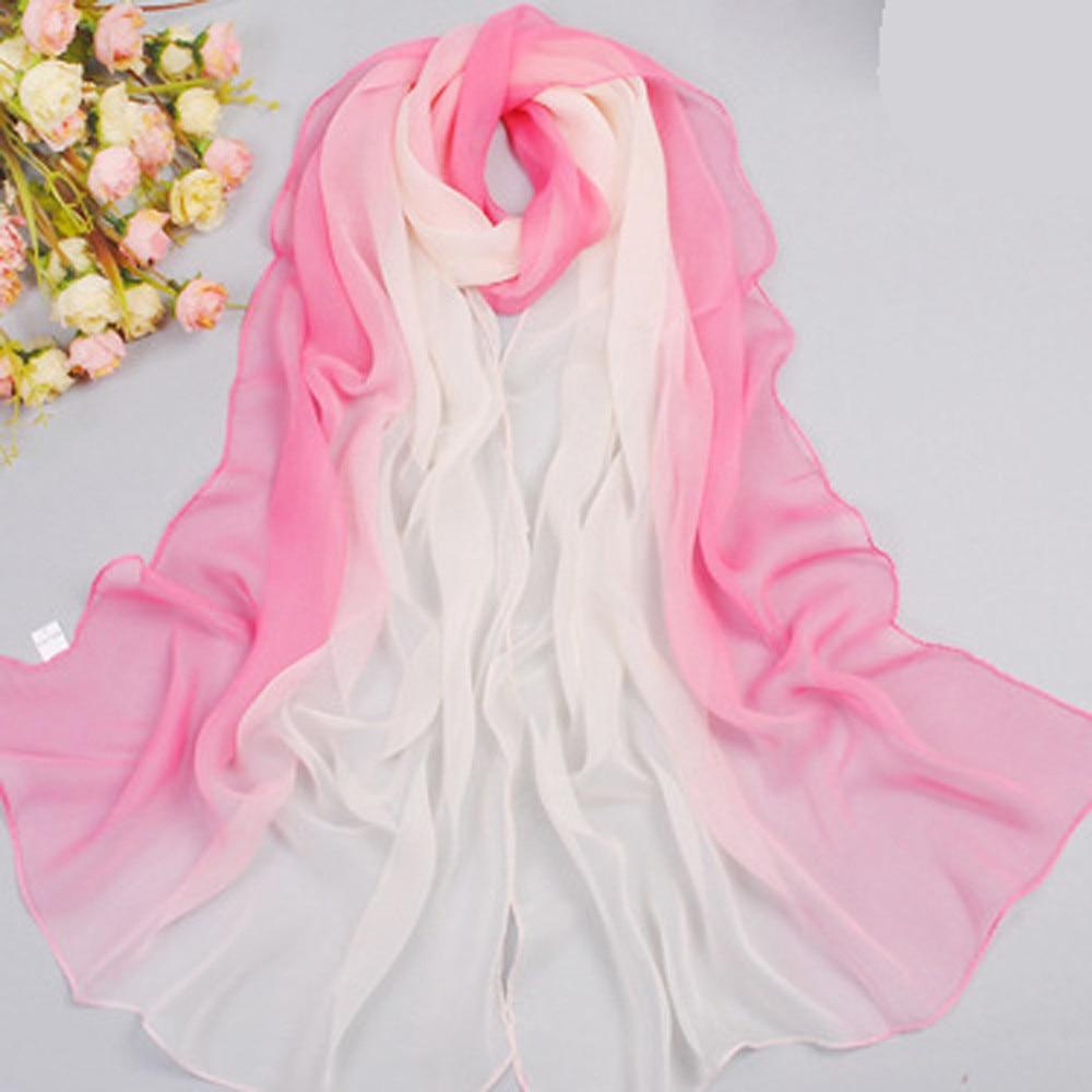 2018 Imitated Silk Scarf Women Winter Shawl Female Scarves
