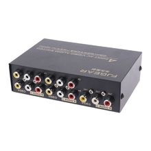 4 Port Input 1 Output Audio Video AV RCA Switch Switcher Selector Box New 2019 New