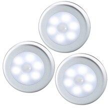 LED PIR Motion Sensor Night Light Emergency Battery Powered LED Light Detector Led Cabinet Lamp Lights for home decoration