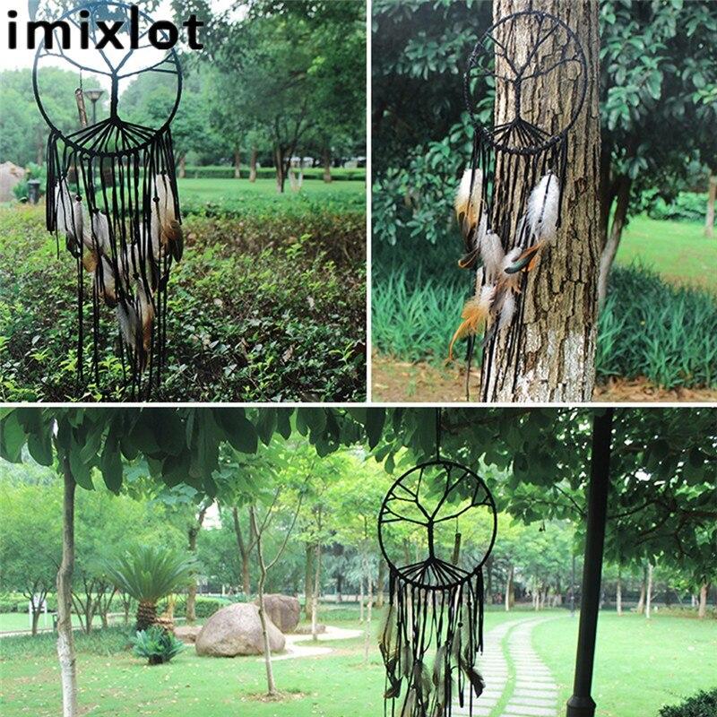 Imixlot Moda Hindistan Retro Hayat Ağacı Tüy Dream Catcher Rüzgar - Ev Dekoru - Fotoğraf 5