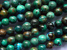 Envío Gratis (40 bolas/set/50g) Crisocola natural 10-0.2mm redondo liso piedras sueltas al por mayor de joyería de diseño