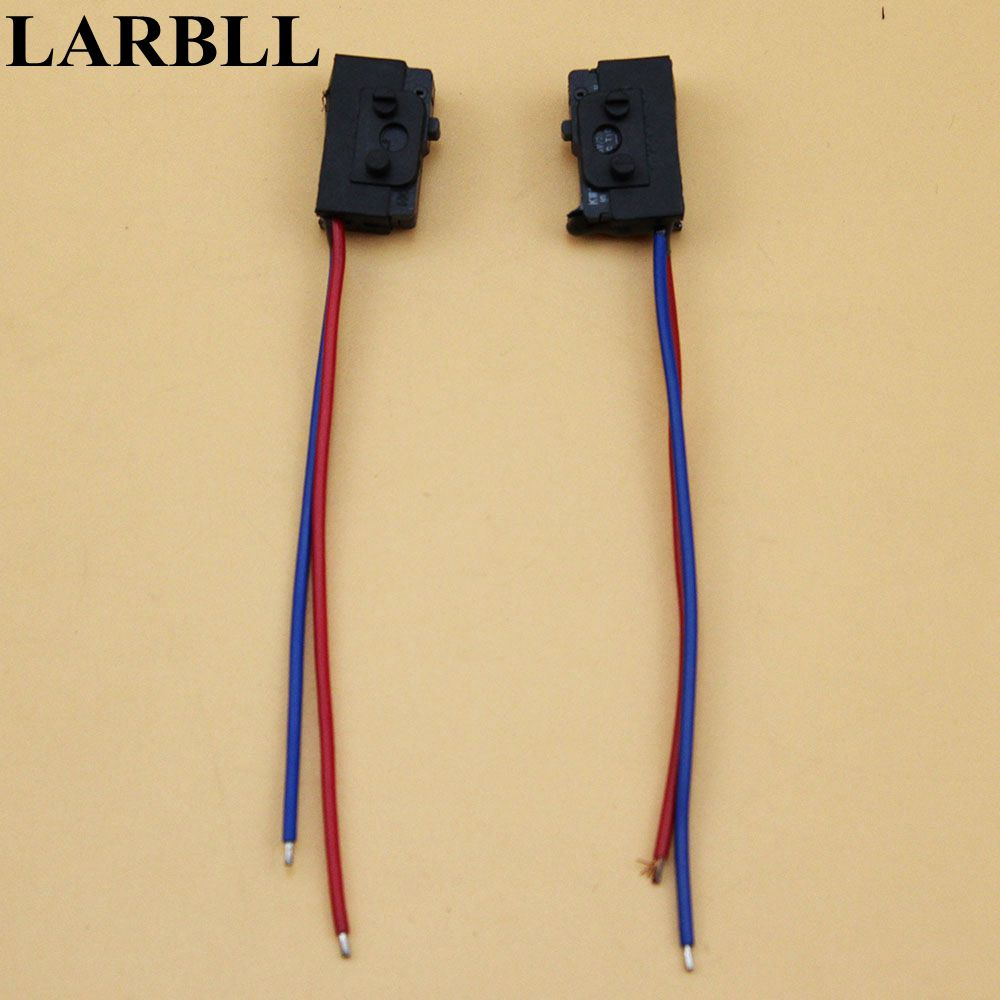 LARBLL Pair (Left and Right ) Door light top a drive link car door lock micro switch FOR VW PASST B5 BORA POLO GOLF 4 MK4 Polo car auto door interior courtesy door warning light door projector lamp red white for vw golf mk4 bora