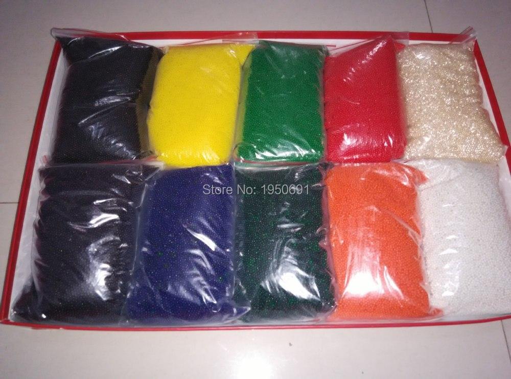10 kg 15mm Grand Orbeez (12 couleurs pour choisir). perles d'eau Bio Gel spitball. cristal d'eau paintball. perles d'eau. boules magiques Gelée d11
