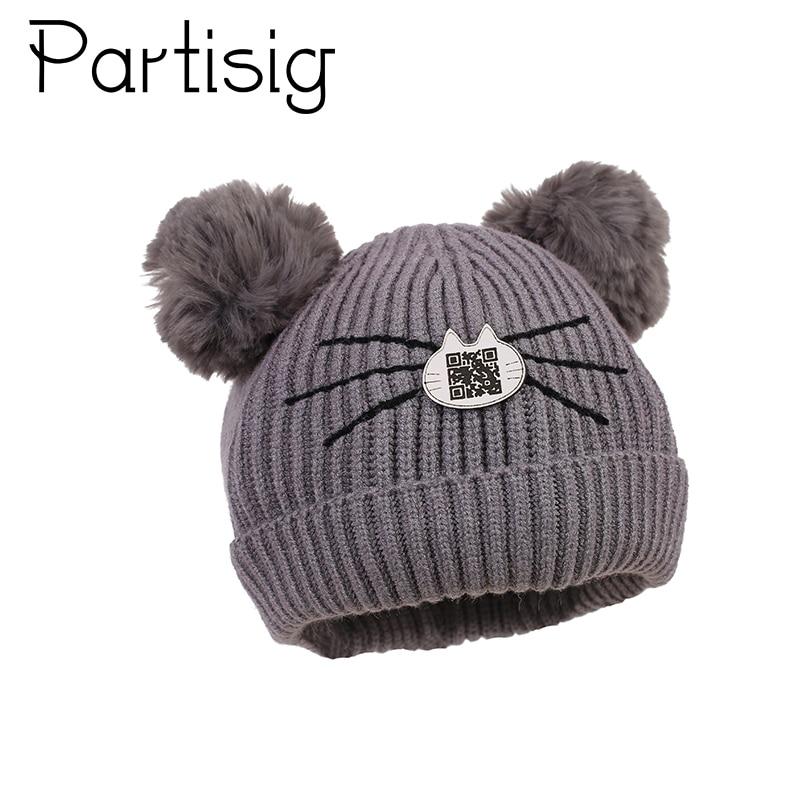 Kind Kinder Baby Mädchen Jungen Hut Winter Gestrickte Geflecht Hüte Kappe Bommel Ball Baby Kappen Kopfbedeckungen Für Herren