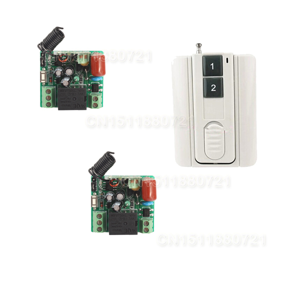 AC 220V 1channel 10A rf wireless remote control switch system Receiver&Transmitter 315MHZ/433 MHZ