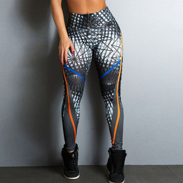 Stretchy Sexy Printed Booty Pattern Leggings
