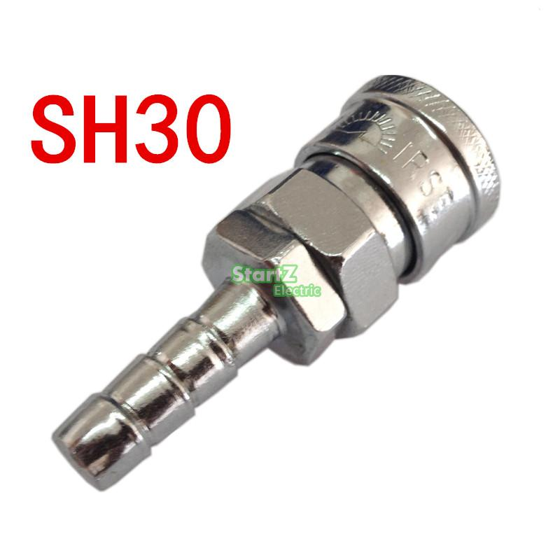 SH30 Join Hose 10mm X 6.5mm  Pneumatic Air Compressor Hose Quick Coupler Plug Socket Connector