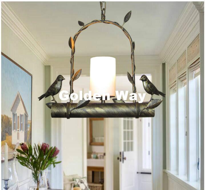 купить Modern Nordic Bird Pendant lamps LED lamp led lustre light Black Gold Bird Pendant light dining room LED bulbs Free Shipping по цене 4916.9 рублей