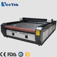 Auto feeding table 1626 double heads 60W 80W co2 laser cutting machine price, co2 fabric laser cutting machine