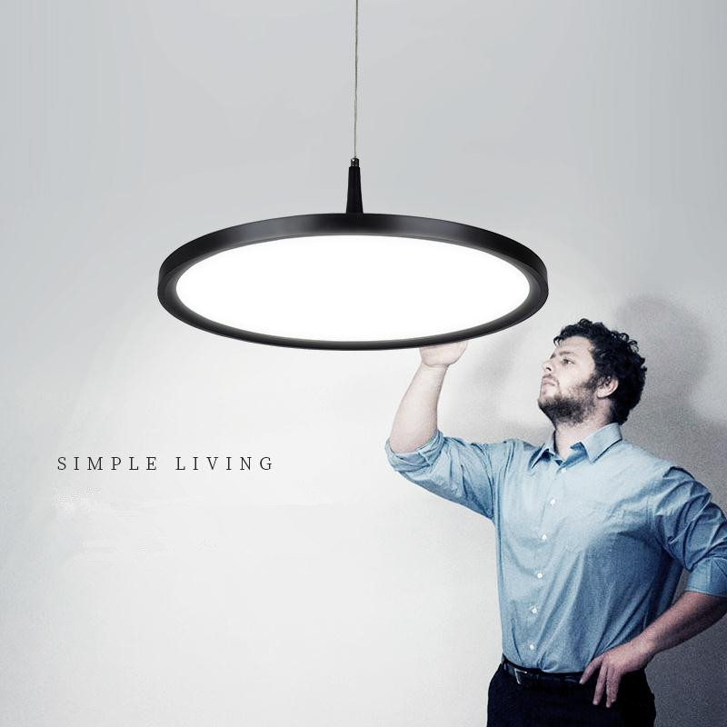 Pendentif LED moderne lumières noir blanc lampes suspendues en métal lampe suspendue pour cuisine salon luminaria lustre luminaires